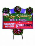 bunga papan happy wedding buhw 101
